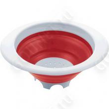 Дуршлаг складной Emsa, 22 см, 507252 (красный/белый)