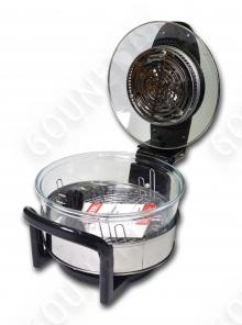 Аэрогриль HOTTER HX - 1057 Platinum LCD ( с жидкокристаллическим дисплеем ЖК ) ( черный с золотом )