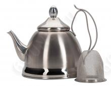 Чайник заварочный REGENT inox Linea PROMO с ситечком, 94-1505, 0.8л