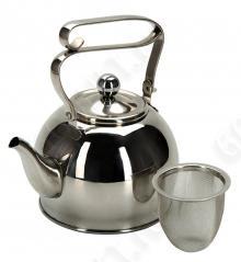 Чайник заварочный REGENT inox Linea PROMO с ситечком, 94-1509, 0.8л
