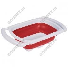 Дуршлаг складной прямоугольный Emsa, 39 х 26 см, 507255 (красный/белый)