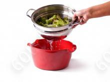Набор посуды Green Pan Hot Pot CW0001862, 24 см (5л)  с пароваркой, красная миска