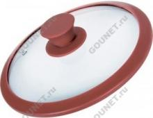 Крышка Tima стеклянная с силиконовым ободком d-26 см (красная), 4626ск