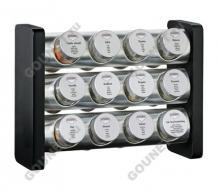 Набор специй 12 предметов Kuchenprofi 26 0750 28 12 (черный, сталь)