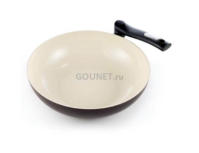 Сковорода с керамическим покрытием для блинов ecopresto, 22 см