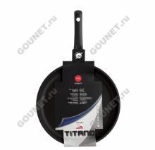 Сковорода глубокая (сотейник) TVS Titano 3Е126.24, диаметр 24 см