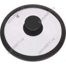 Крышка Tima стеклянная с силиконовым ободком d-24 см (черный), 4624сч